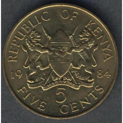 KENYA 5 Cents 1984