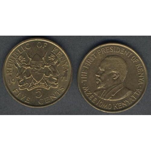 KENYA 5 Cents 1971