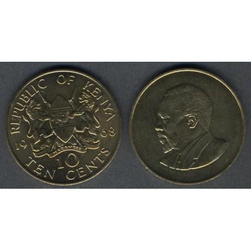 KENYA 10 Cents 1968