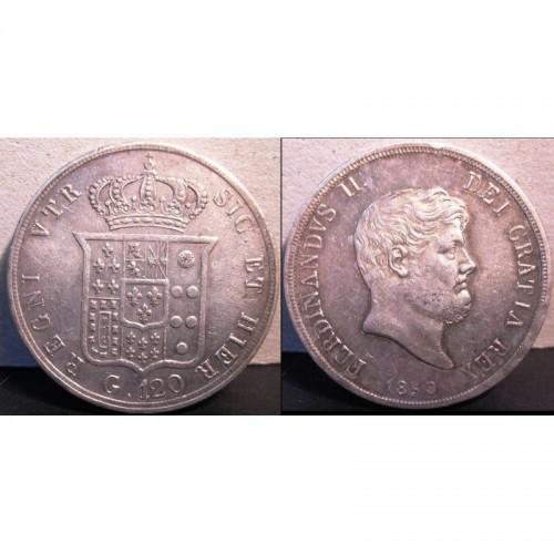 FERDINANDO II PIASTRA 1859 AG