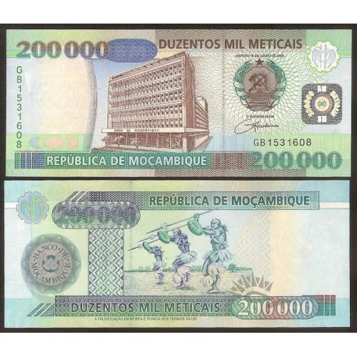 MOZAMBIQUE 200.000 Meticais...