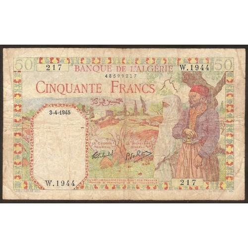 ALGERIA 100 Francs 03.04.1945