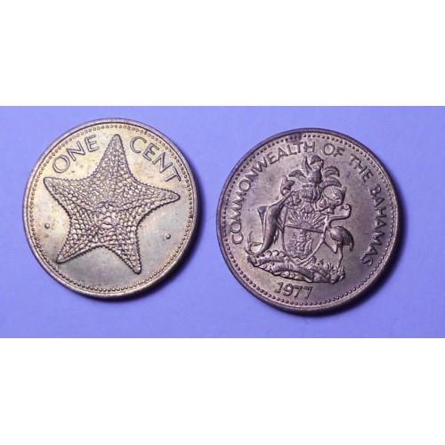 BAHAMAS 1 Cent 1977