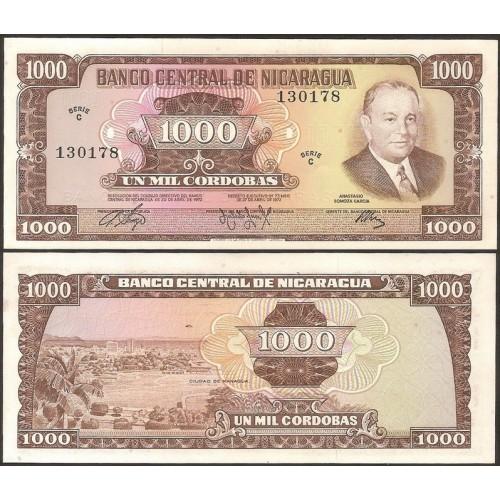 NICARAGUA 1000 Cordobas 1972