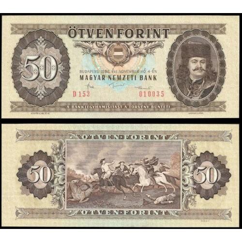 HUNGARY 50 Forint 1986