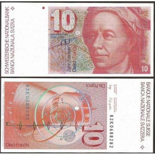SWITZERLAND 10 Franken 1982