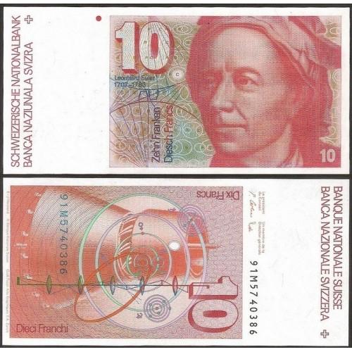 SWITZERLAND 10 Franken 1991