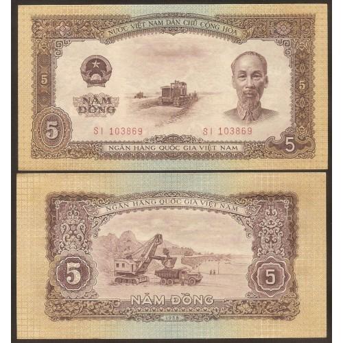 VIET NAM 5 Dong 1958