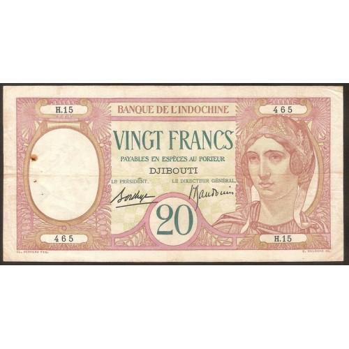 DJIBOUTI 20 Francs 1928/38