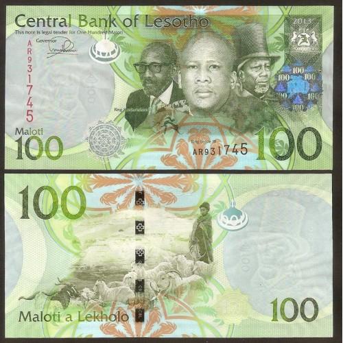 LESOTHO 100 Maloti 2013