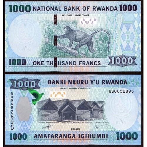 RWANDA 1000 Francs 2015