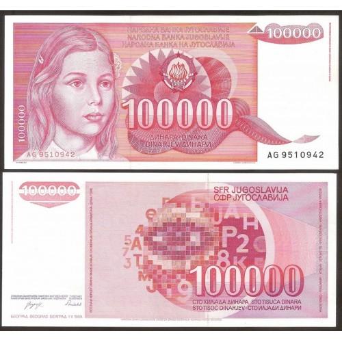 YUGOSLAVIA 100.000 Dinara 1989