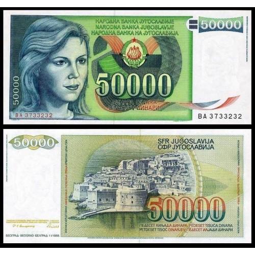 YUGOSLAVIA 50.000 Dinara 1988
