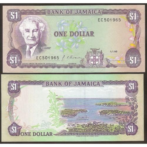 JAMAICA 1 Dollar 1990