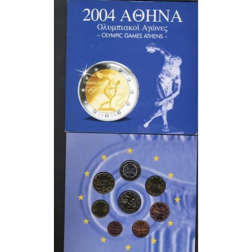 GREECE Set coins ATHENS 2004