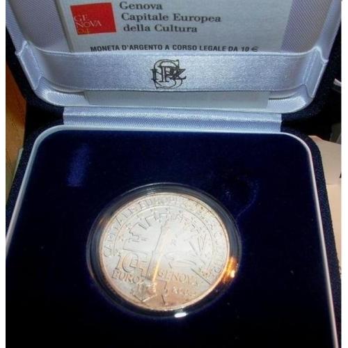 ITALIA 10 EURO 2004 GENOVA...