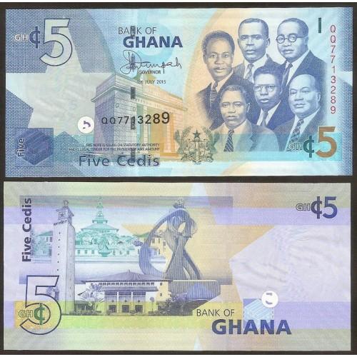 GHANA 5 Cedis 2015
