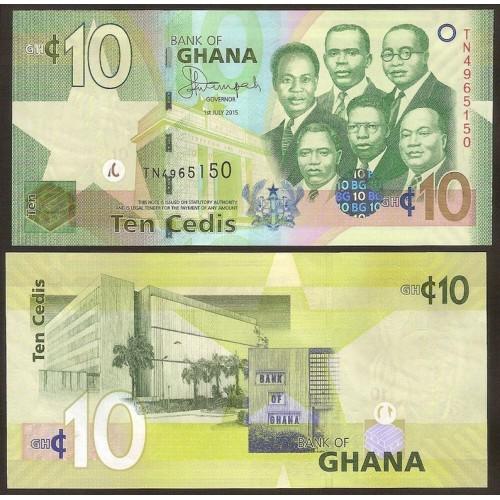 GHANA 10 Cedis 2015