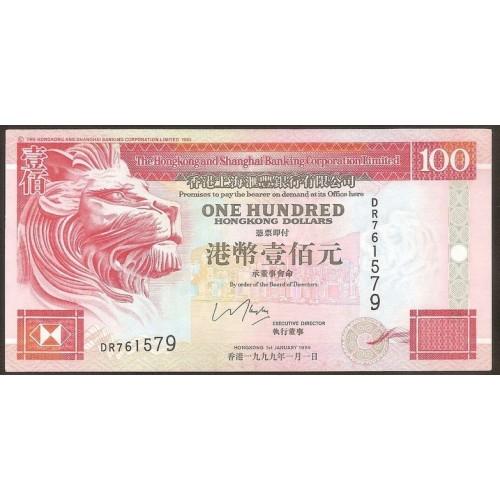 HONG KONG 100 Dollars 1999