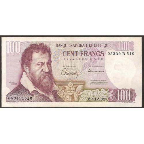 BELGIUM 100 Francs 1965