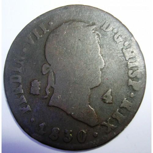 SPAIN 4 Maravedis 1830