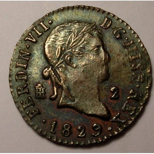SPAIN 2 Maravedis 1829