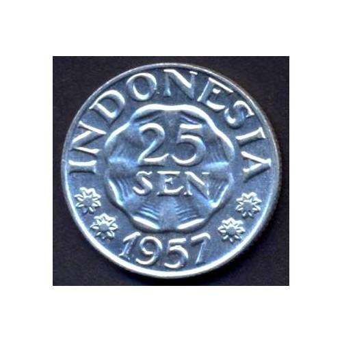 INDONESIA 25 Sen 1957