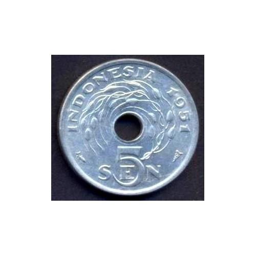 INDONESIA 5 Sen 1951