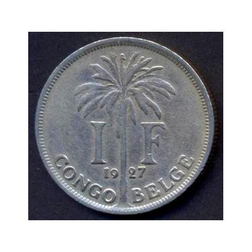 BELGIAN CONGO 1 Franc 1927...
