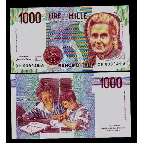 1000 Lire Montessori Serie...