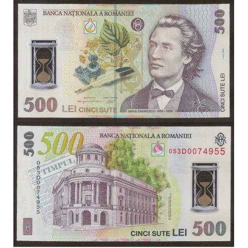 ROMANIA 500 Lei 2005 Polymer