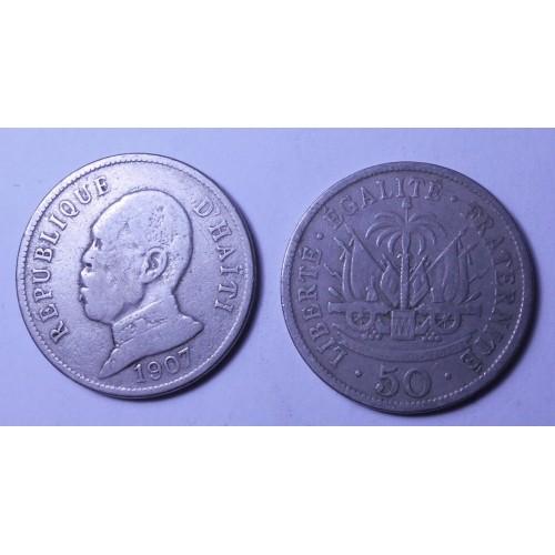HAITI 50 Centimes 1907...