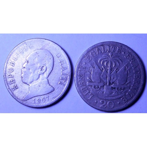 HAITI 20 Centimes 1907...