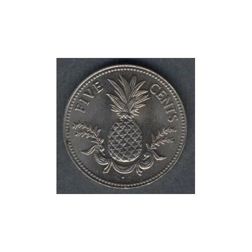 BAHAMAS 5 Cents 1984