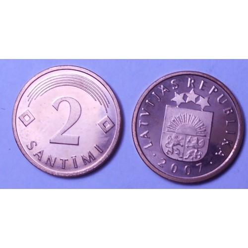 LATVIA 2 Santimi 2007