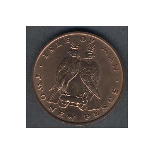 ISLE OF MAN 2 Pence 1971