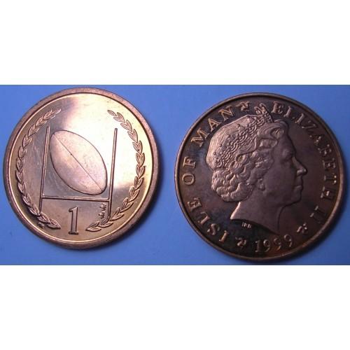 ISLE OF MAN 1 Penny 1999 AA