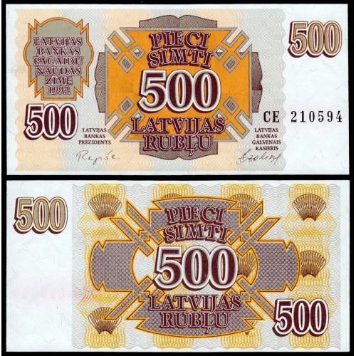 LATVIA 500 Rubles 1992