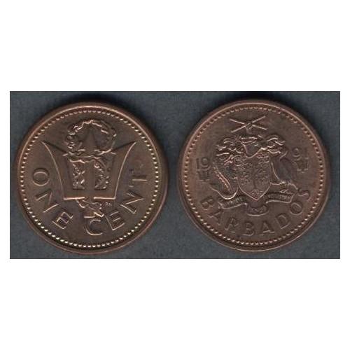 BARBADOS 1 Cent 1991