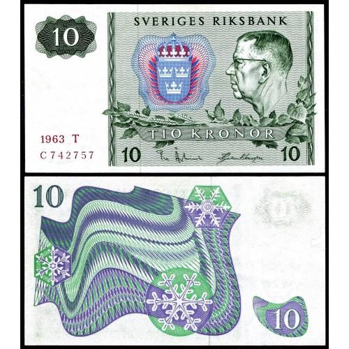 SWEDEN 10 Kronor 1963