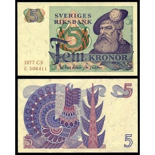 SWEDEN 5 Kronor 1977