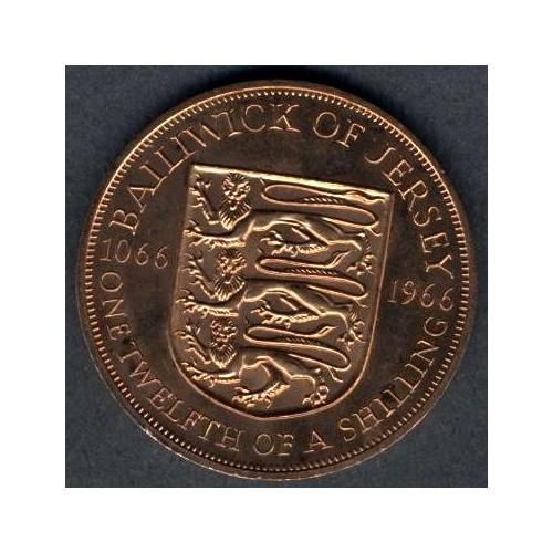 JERSEY 1/12 Shilling 1966...