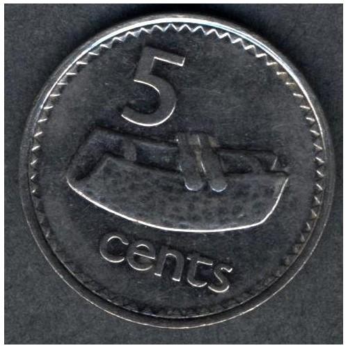 FIJI 5 Cents 1995