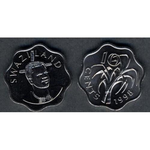 SWAZILAND 10 Cents 1998
