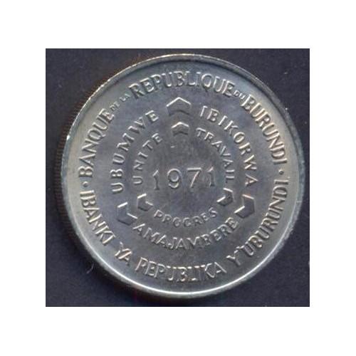 BURUNDI 10 Francs 1971 Fao
