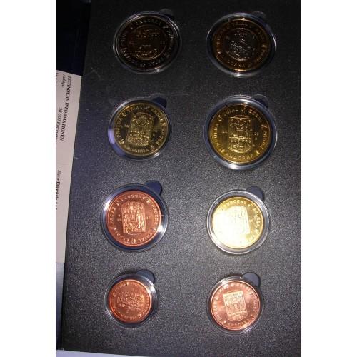 ANDORRA Set coins 2003 Euro...