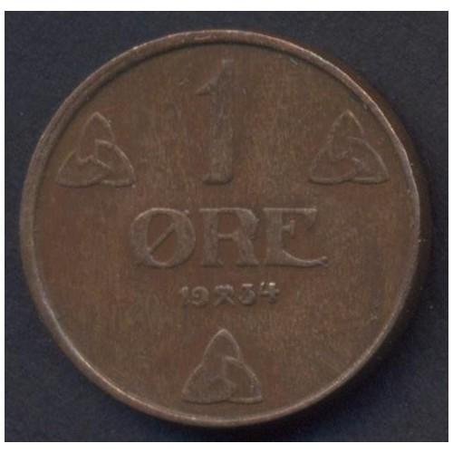 NORWAY 1 Ore 1934