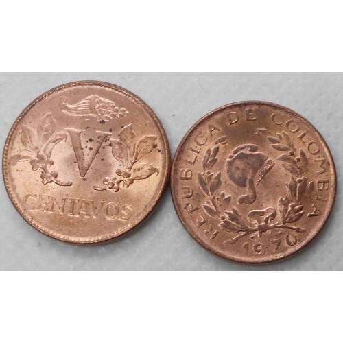 COLOMBIA 5 Centavos 1970