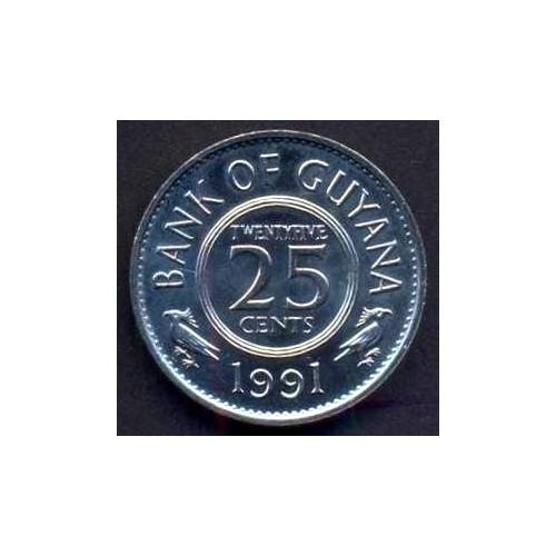 GUYANA 25 Cents 1991