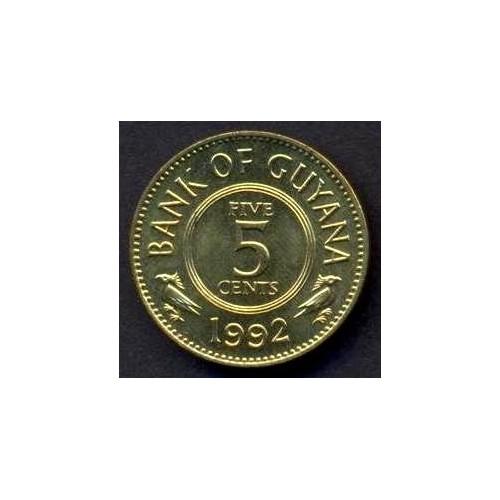 GUYANA 5 Cents 1992
